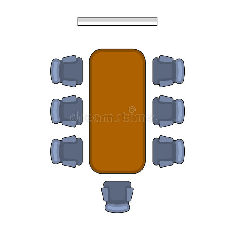 Meeting Room Layout. Conference Boardroom Flat Style. Vector vector illustration