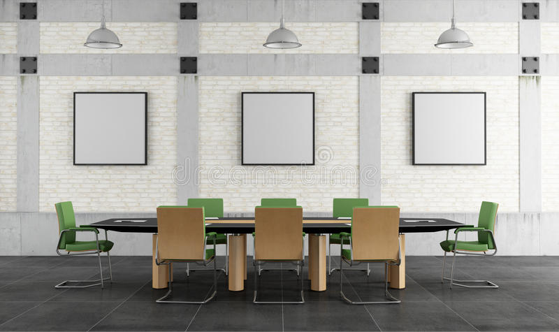 Download Meeting room in a loft stock illustration. Image of grunge - 31961032