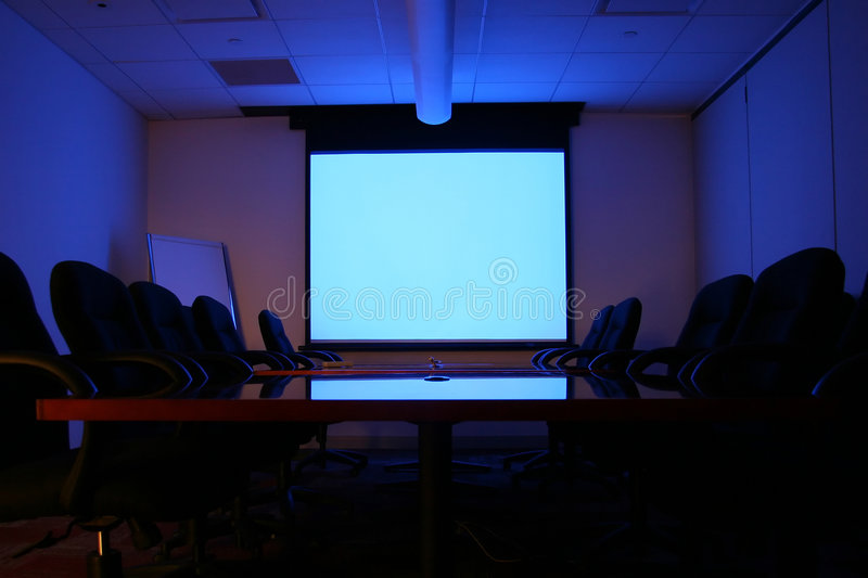 Meeting Room with Screen royalty free stock photos