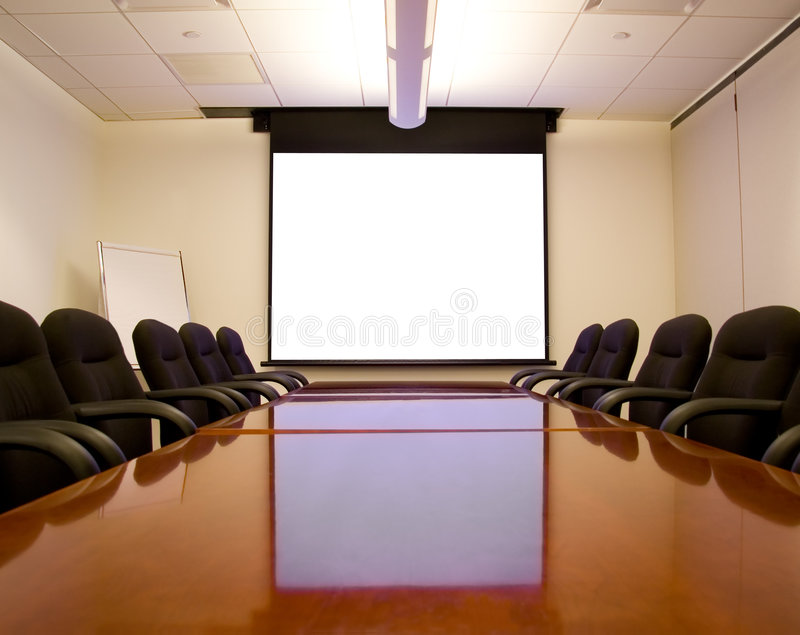 Download Meeting Room With Screen Stock Photography - Image: 1752362