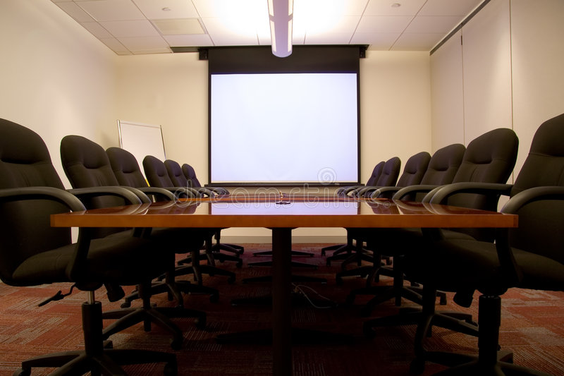 Meeting Room with Screen royalty free stock image