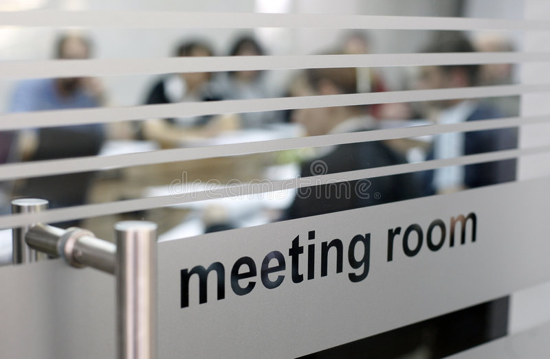 Meeting room in use royalty free stock image