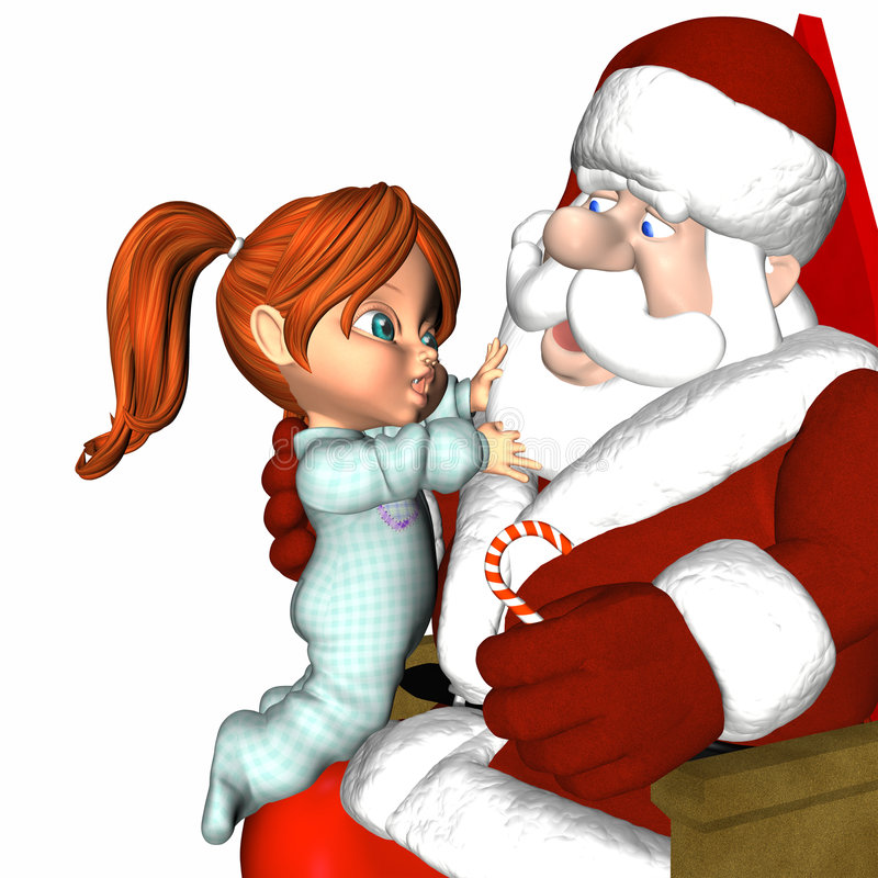 Download Meeting Santa 2 - It's Real Stock Illustration - Image: 1531148