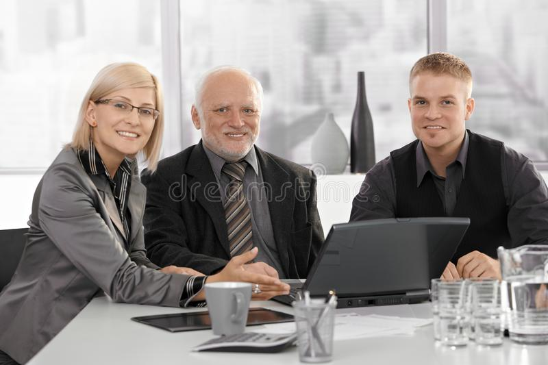 Meeting with senior executive royalty free stock photography
