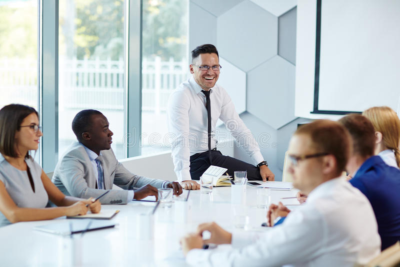 Meeting of specialists royalty free stock photos