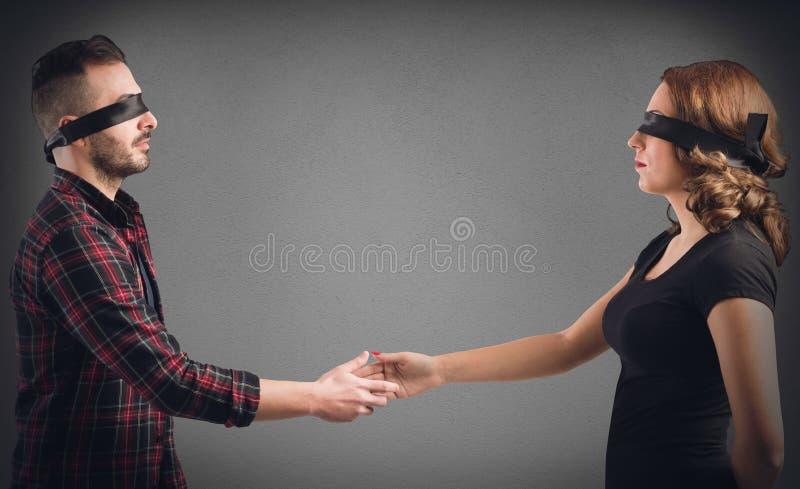 Meeting between strangers royalty free stock photo