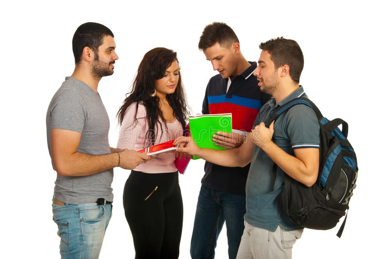Download Meeting students group stock image. Image of attractive - 28228393