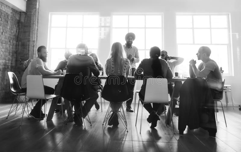 Meeting Table Networking Sharing Concept royalty free stock images