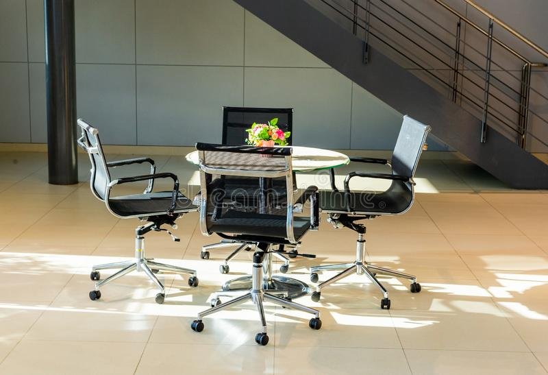 Meeting table  in the office area royalty free stock photography