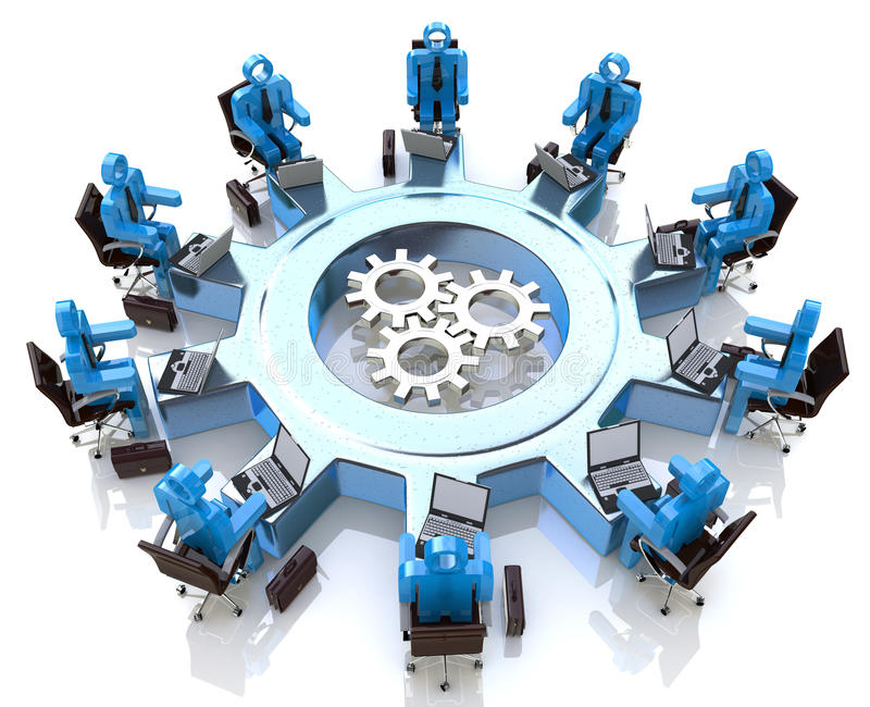 Meeting for teamwork royalty free stock images