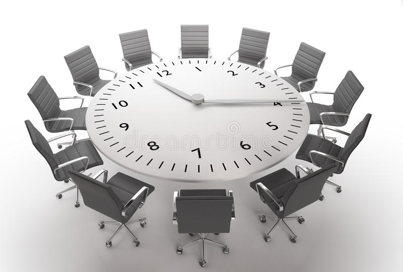 Meeting time stock illustration
