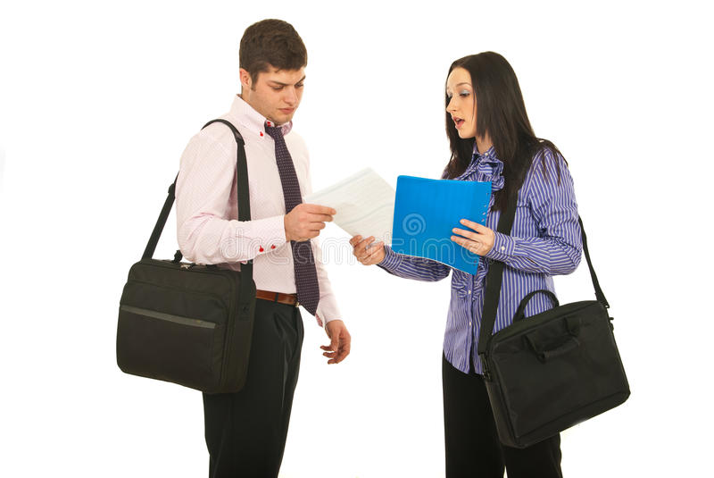 Meeting Two Business People Stock Photo
