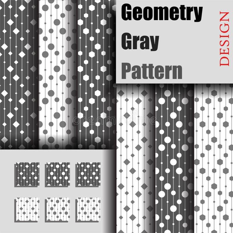 Meetkunde Gray Pattern vector illustratie