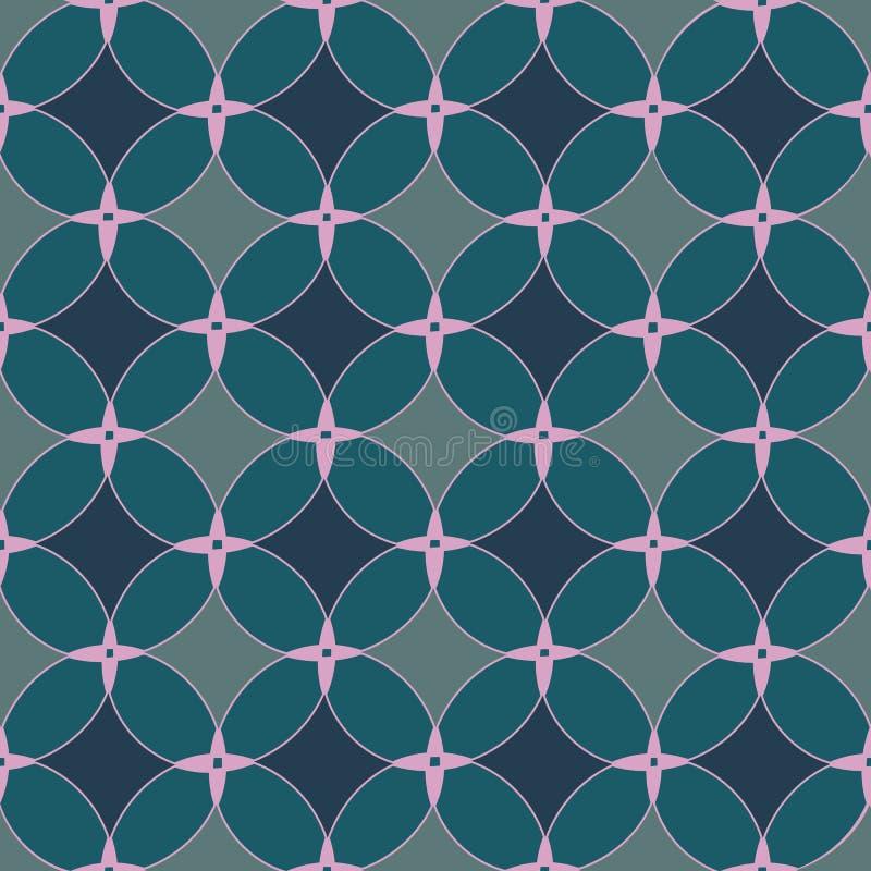 Meetkunde klassiek naadloos vectorpatroon met eenvoudige cirkelvormen en lijnen Het abstracte ontwerp van het oppervlaktepatroon  royalty-vrije illustratie