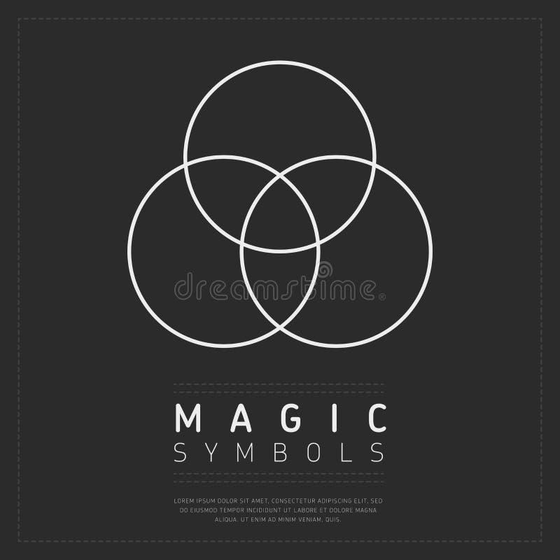 Meetkunde magisch symbool op grijs stock illustratie