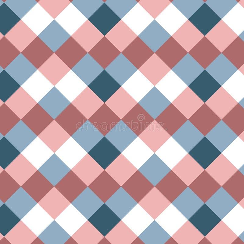 Meetkunde minimalistic patroon met vierkanten Abstracte achtergrond met geometrische vormen Patroon voor stof, gift het verpakken vector illustratie