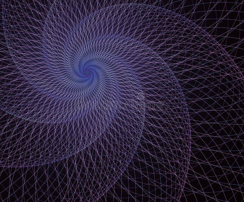 Meetkunde, netwerkelement Kruisingskrommen Surreal futuristisch ontwerp vector illustratie