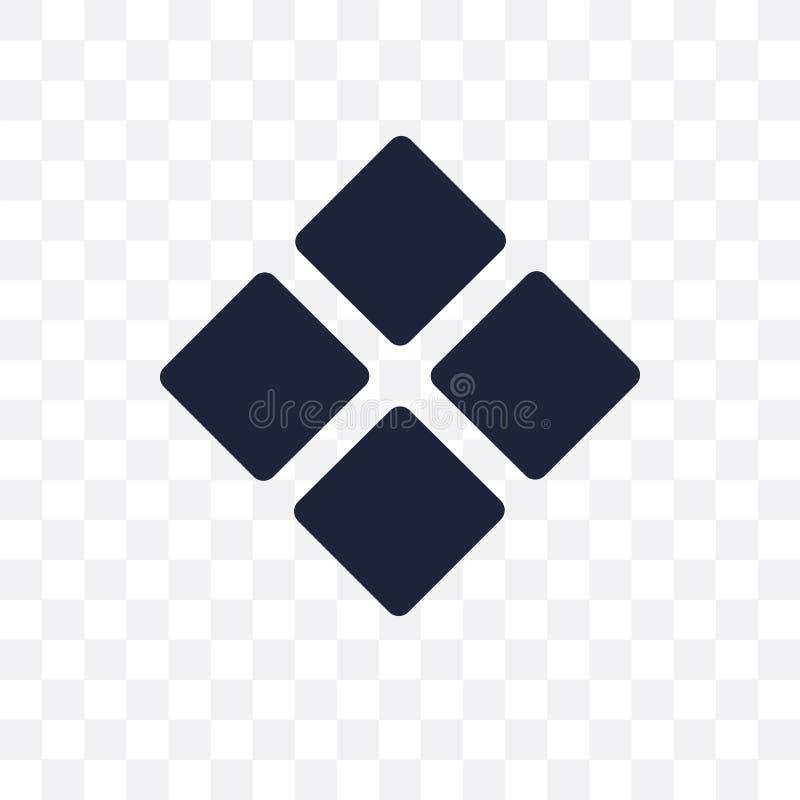 Meetkunde transparant pictogram Het ontwerp van het meetkundesymbool van Meetkunde stock illustratie