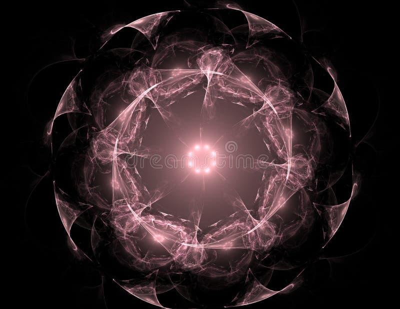Meetkunde van Ruimtereeks Visueel aantrekkelijke die achtergrond van conceptuele nettenkrommen en fractal elementen geschikt als  vector illustratie