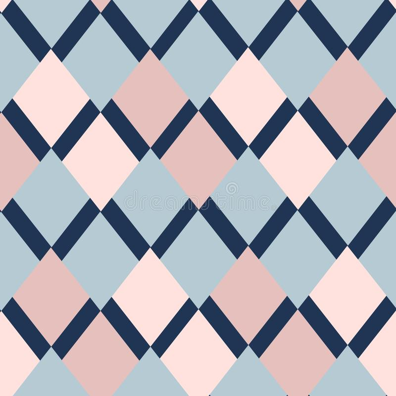 Meetkunde vierkant vectorpatroon Etnisch naadloos ornament Abstracte achtergrond - kleurrijke lijnen vector illustratie