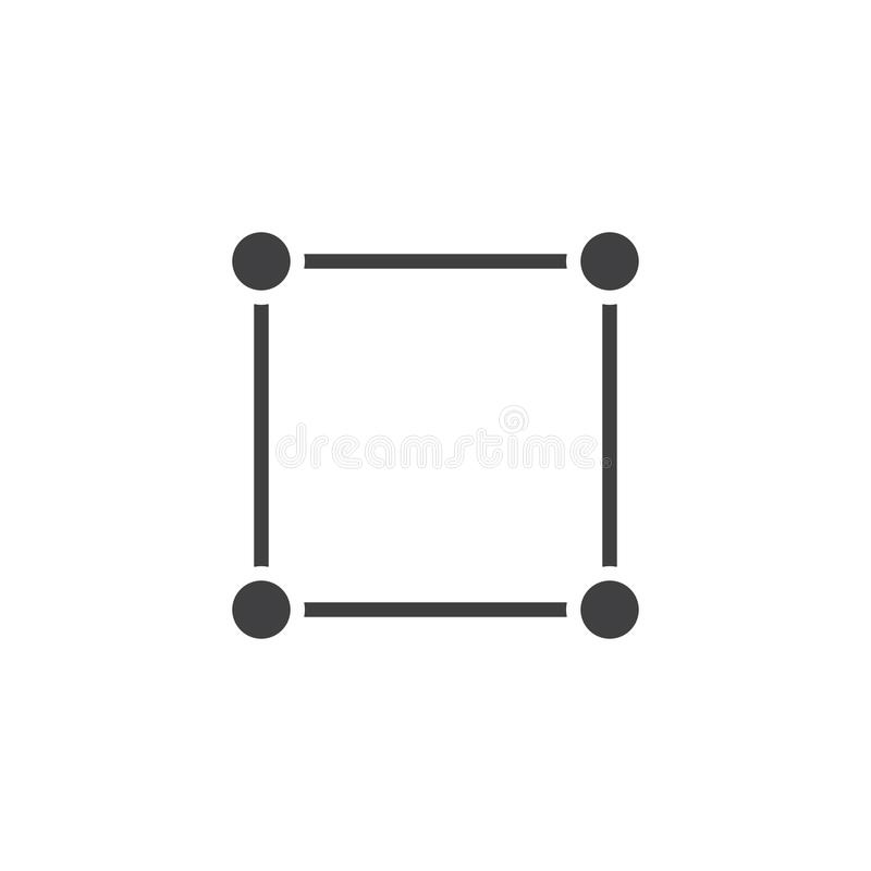 Meetkunde vierkant vectorpictogram vector illustratie