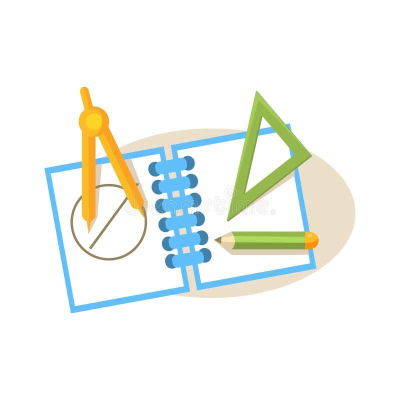 Meetkundepunten De Vectorillustratie van het onderwijsontwerp royalty-vrije illustratie