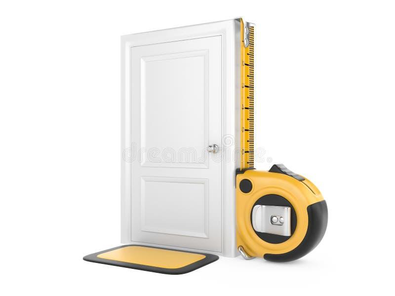 Meetlint en gesloten deurhuis. vector illustratie