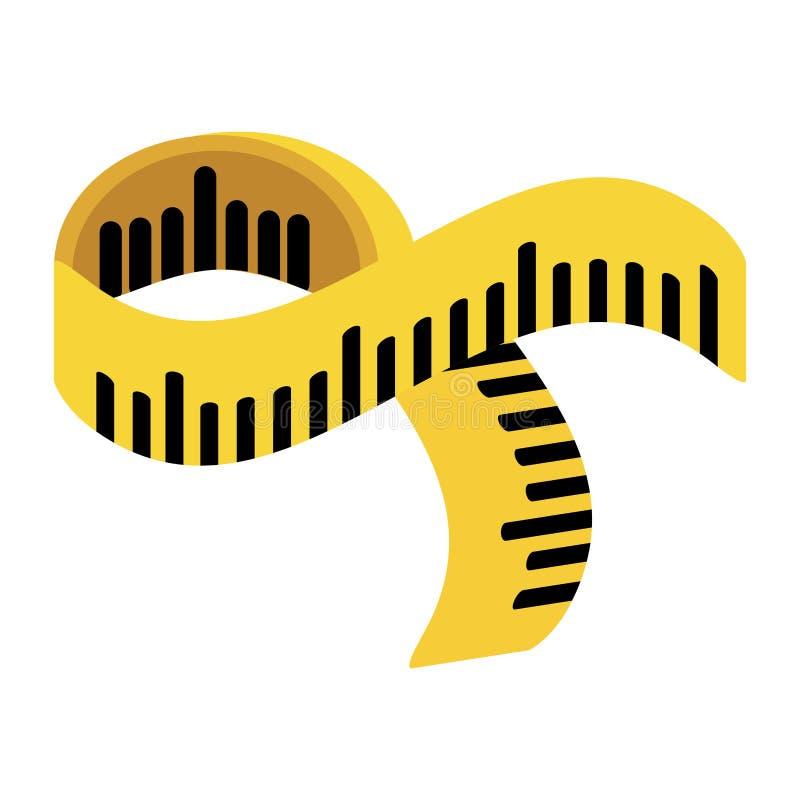 Meetlint geïsoleerd pictogram stock illustratie