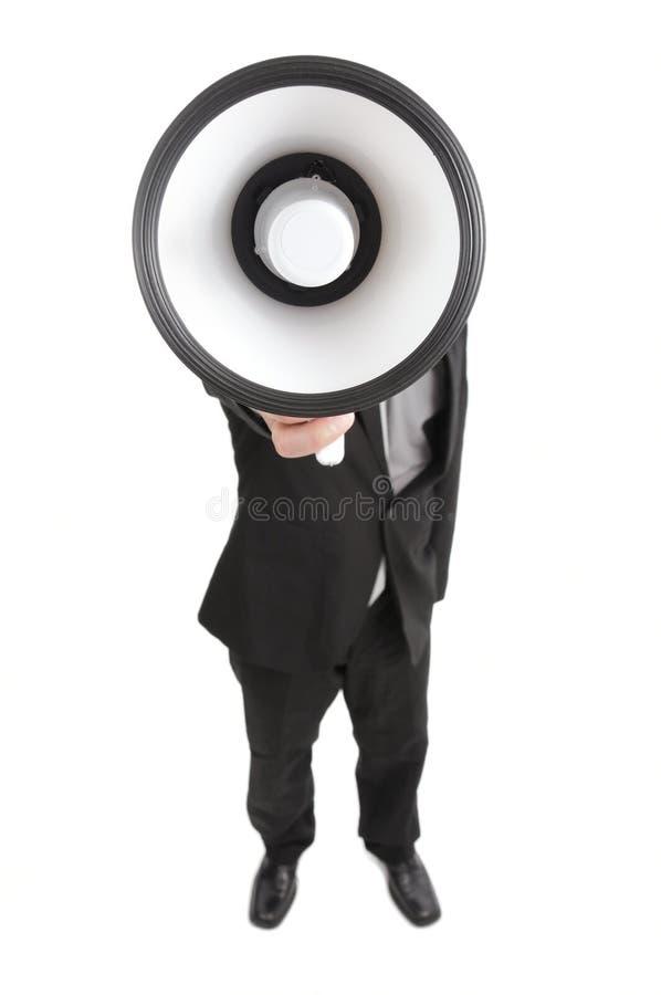 Megáfono imagen de archivo