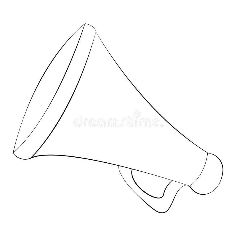 megáfono ilustración del vector