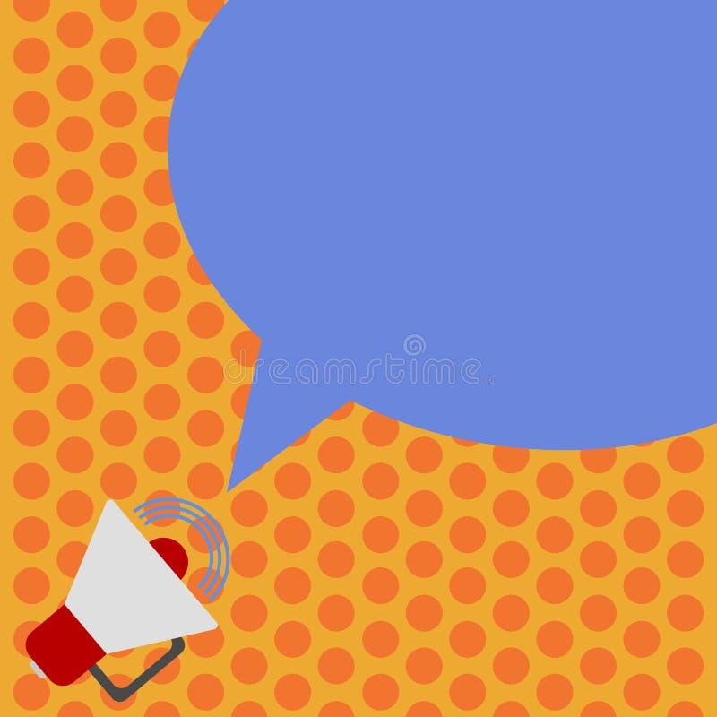 Megáfono abstracto moderno del fondo del espacio vacío de la copia del concepto del negocio del diseño con el icono del volumen d ilustración del vector