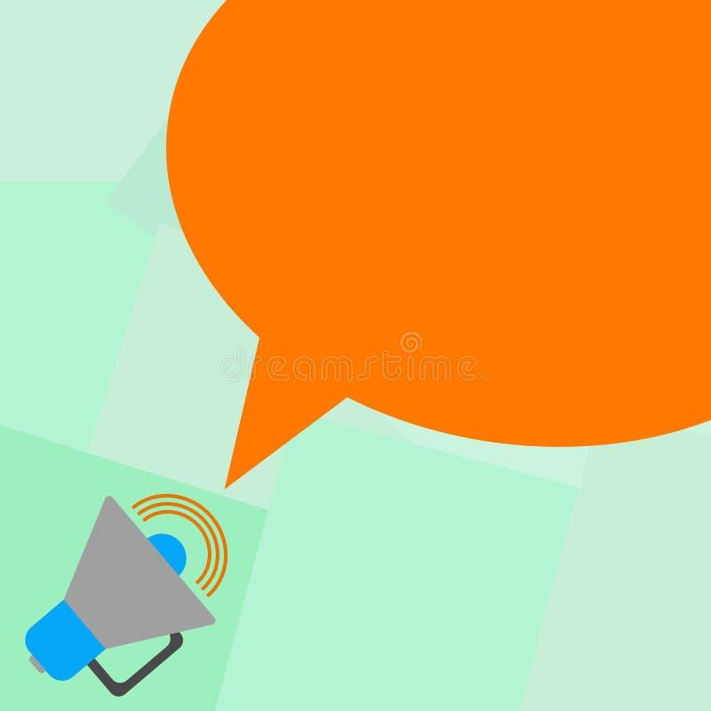 Megáfono abstracto moderno del fondo del espacio vacío de la copia del concepto del negocio del diseño con el icono del volumen d stock de ilustración