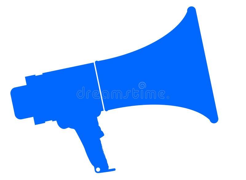 Megáfono aislado azul libre illustration