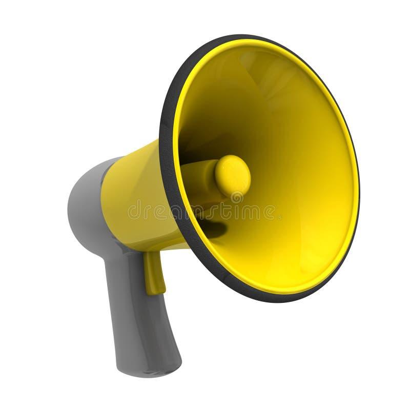Megáfono amarillo stock de ilustración