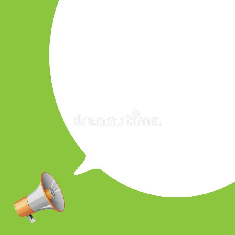Megáfono con discurso de la burbuja ilustración del vector