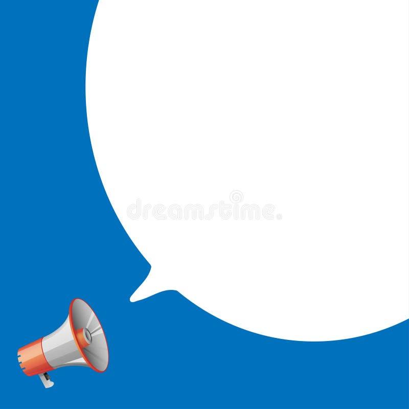 Megáfono con discurso de la burbuja libre illustration