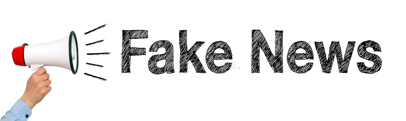 Megáfono falso de las noticias foto de archivo