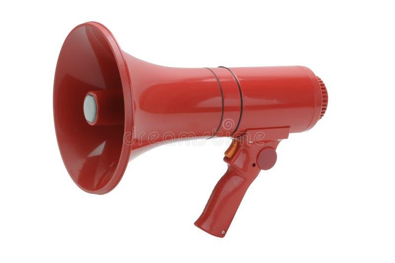 Megáfono rojo imágenes de archivo libres de regalías