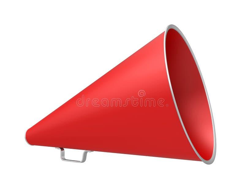 Megáfono rojo del vintage ilustración del vector