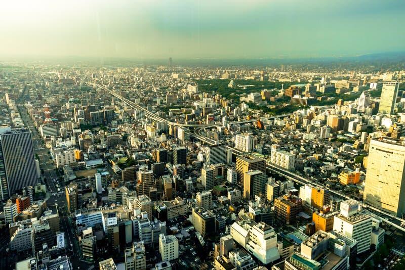 Megápolis de Nagoya de la opinión del panorama del horizonte del cuadrado de Midland imagenes de archivo