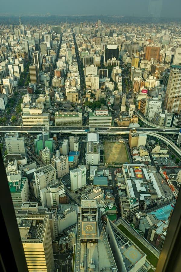 Megápolis de Nagoya de la opinión del panorama del horizonte del cuadrado de Midland fotografía de archivo libre de regalías