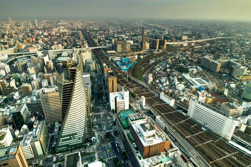 Megápolis de Nagoya de la opinión del panorama del horizonte del cuadrado de Midland imagen de archivo