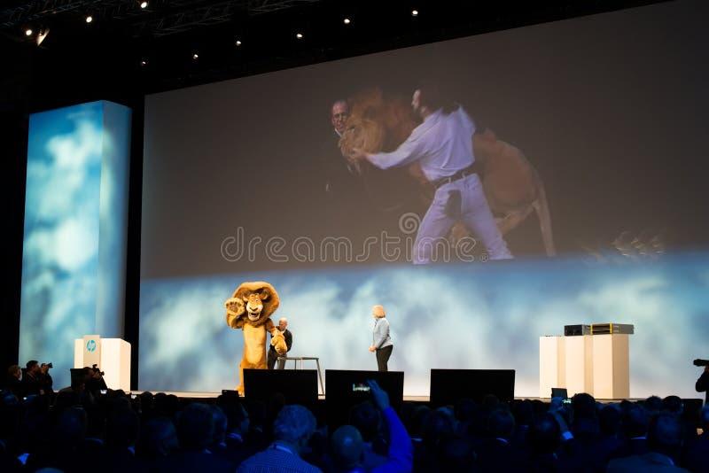 Meg Whitman и Джеффри Katzenberg стоковое фото rf