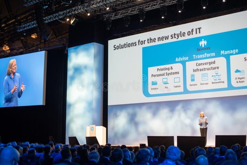 Meg Whitman на HP открывают 2012 стоковое изображение