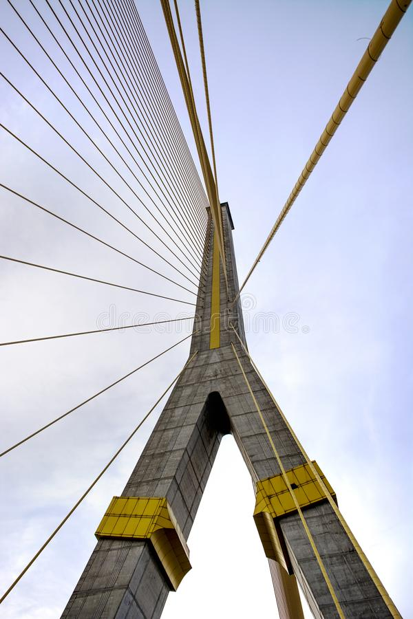 Mega мост слинга, Rama 8, в bangkok Таиланде стоковая фотография