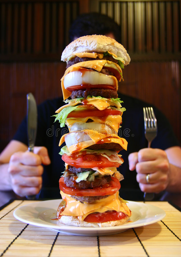 Mega Beefburger royalty free stock images