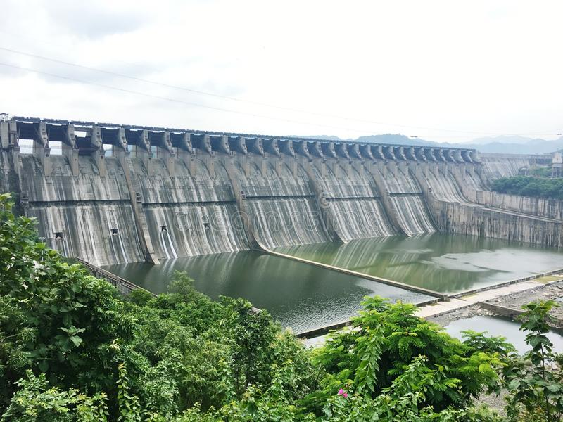 The Mega dam. The large spacious dam of gujarat royalty free stock image