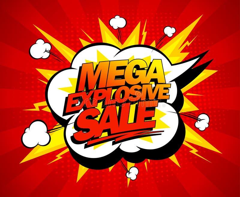 Mega explosief verkoopontwerp vector illustratie