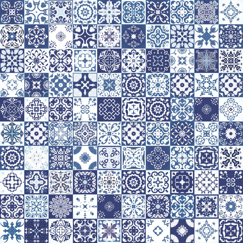 Free Mega Gorgeous Seamless Patchwork Pattern From Colorful Moroccan Tiles, Ornaments. Can Be Used For Wallpaper, Pattern Fills, Web Pa Stock Photography - 69159142