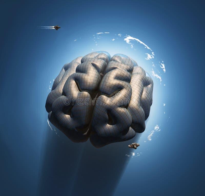 Mega hjärna vektor illustrationer